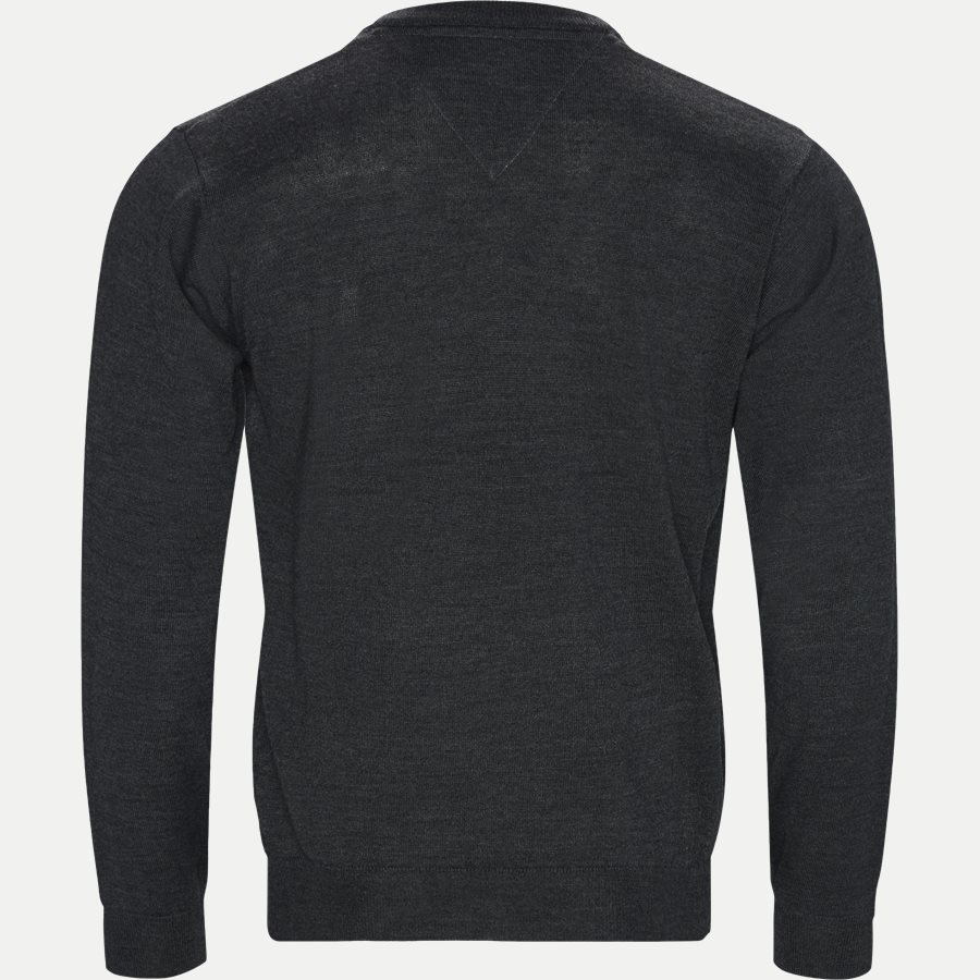 SMARALDA - Smaralda V-Neck Striktrøje - Strik - Regular - CHARCOAL MEL. - 2
